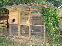 """The Garden Coop"" Chicken Coop Plans - Download Easy Chicken Coop and Hen House Plans or Designs"