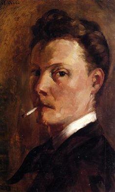 Self-Portrait with Cigarette - Henri-Edmond Cross