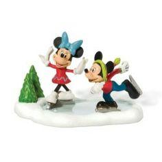 Department 56 Disney Village Accessory Figurine, Ice Skating