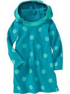 Hooded Jersey Dresses for Baby - Full Tealt 3T $15.00