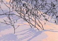 Delicate Light, linocut print by William Hays