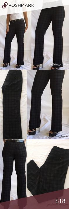 Temporarily Reduce Pants Average stretch black with white plaid stitch excellent condition , 89% polyester, 16% Ryan ,4% spandex New York & Company Pants Trousers