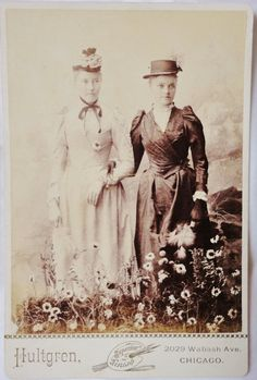 Antique Cabinet Card  Flower Girls by pandorasbox on Etsy, $18.00