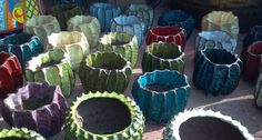 Mike Cone's pots for plants.