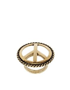Peace sign ring......