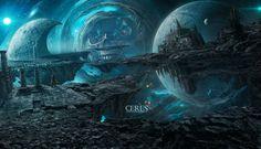 Ceres by on DeviantArt Cosmic Art, Dream Images, Fantasy City, Fantasy Landscape, Weird World, Worlds Largest, Cyberpunk, Futuristic, Concept Art