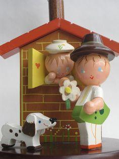 vintage Irmi nursery lamp - Tyrolean boy and girl.