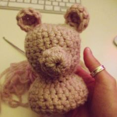Making a teddy bear #photoprop #crochet #handmade #blackwhitelime #teddybear #teddy