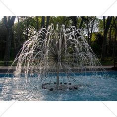 Modern fountain in the gardens in the old city of Istanbul  http://graphicleftovers.com/graphic/modern-fountain-1/