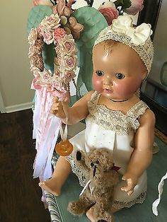 "VERY LARGE 25""ANTIQUE GERMAN FULL COMPOSITION DOLL MARKED 056-6"