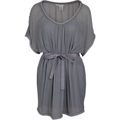 DIANE VON FURSTENBERG Sol Dress ($237) ❤ liked on Polyvore featuring dresses, vestidos, tops, платья, short dresses, women, transparent dress, short gray dresses, ruched mini dress and sheer mini dress