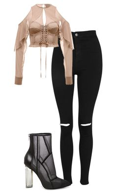 """""""Untitled #1548"""" by juliapilz ❤ liked on Polyvore featuring Topshop and Steve Madden"""
