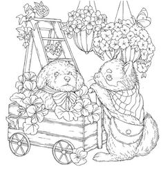 Cool Coloring Pages, Animal Coloring Pages, Printable Coloring Pages, Adult Coloring Pages, Coloring Books, Blank Wedding Invitation Templates, Tigger And Pooh, Cute Cartoon Girl, A4 Paper