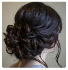 Elegant updo hair braid cocktail party wedding