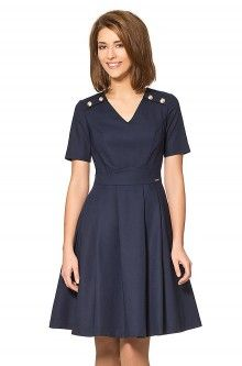 Orsay kleid blau schwarz