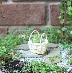 2 Handle White Basket