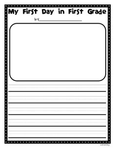 my first day of first grade writing template | Crazy for First Grade: Back to School- The First Day in First Grade!!! First Day In First Grade, First Grade Lessons, First Grade Teachers, Teaching First Grade, First Grade Classroom, Student Teaching, Classroom Fun, Teaching Ideas, Classroom Organization