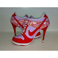Nike Dunk SB high heels, now that's my type of tennis shoes; Nike High Heels, Red High Heels, High Heel Boots, Heeled Boots, Shoe Boots, Shoes Heels, High Heels For Kids, Cute Shoes, Me Too Shoes