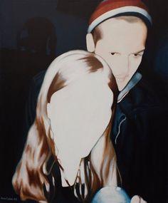 "Anna Grau | ""communicating 2"" | 2009 | 100/120, oil on canvas | THE CARLOS REID GALLERY ONLINE"