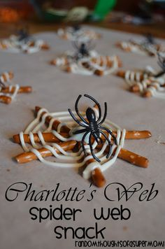Charlotte's Web Spider Web Snack