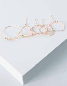 Bershka Turkey - Heart bracelet set 19.95 TRY