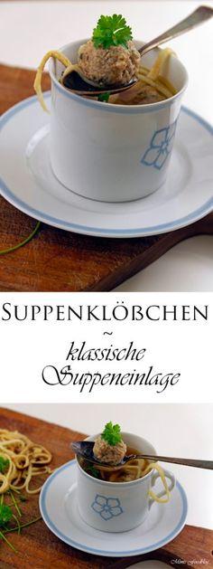 Suppenklößchen ~ die klassische Suppeneinlage - Mimis Foodblog