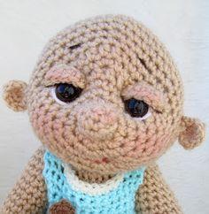 Teri's Blog: Tutorials, Jointing, Needle Scultping, Stitch Help, Photos & More Crochet Doll Pattern, Crochet Dolls, Crochet Patterns, Crochet Hats, Art Doll Tutorial, Hands Tutorial, Sculpting Tutorials, Video Tutorials, Reverse Single Crochet