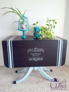 vintage drop leaf table gets some tlc, chalk paint, home decor, painted furniture
