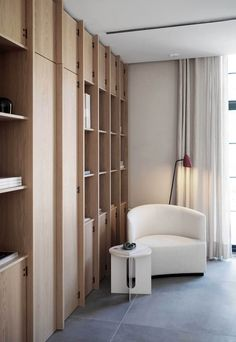 The Audo - a new hybrid space from Menu Interior Architecture, Interior Design, Timber Flooring, Guest Bedrooms, Danish Design, Decoration, Home And Living, Shelving, Furniture Design