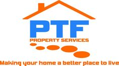 PTF property services logo design completed for local property developer in chesterfield.
