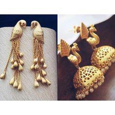 indianstreetfashion: Birdie birdie in the sky .. #jewellery #earrings #love #golden #FusionFashion #pretty