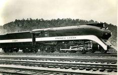 Frisco Streamlined Steam Locomotive.