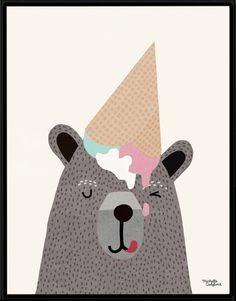 i love ice cream - Michelle Carlslund Illustration