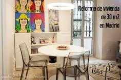 blanco vintage: REFORMA DE UN PISO DE 30 M2 EN MADRID