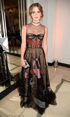 Emma Watson in a Dior Spring 2017 gown - Harper's Bazaar Women of the Year Awards 2016 - October 31 2016