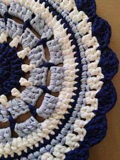 Crochet Mat, Crochet Carpet, Crochet Home, Love Crochet, Crochet Doilies, Knit Rug, Rug Yarn, Yarn Projects, Crochet Projects