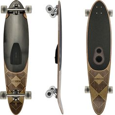 """The Globe Pinner Bluetooth Speaker Complete Longboard 41.25"""" is the first Bluetooth speaker longboard. Perfect board to cruise around while dancing to your favorite tunes without wires."""