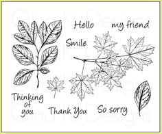 Autumn Leaves stamp set from Gina K Designs.