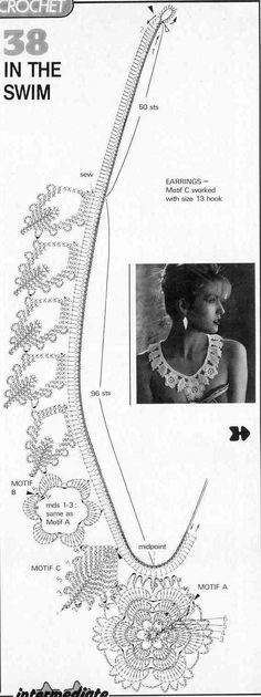 3 Patrones Crochet Colgantes Crochet Collar Pattern, Crochet Diagram, Crochet Chart, Crochet Motif, Crochet Doilies, Knit Crochet, Crochet Patterns, Patron Crochet, Irish Crochet