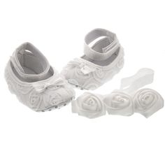 So sweet! Baby's Baptism Shoes & Headband Set for a little girl entering the kingdom of God.