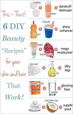 Great beauty recipes that would be great for your skin and hair.