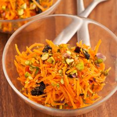 Carrot, Pistachio and Cranberry Slaw //paleo// For more healthy recipes check out www.plated.com/menu