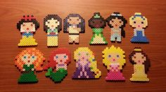 Eleven Disney Princesses Perler Beads by MolilyGalleria on DeviantArt