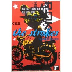 The Strokes at The Fillmore Concert Poster   http://www.oddtoes.com/the-strokes-poster-moldy-peaches-2002-concert