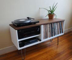 Meuble pour vinyles style années 50