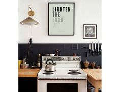 """Lighten The Fuck Up  30.5"""" x 20.5"""" Fine Art Screen Print Typography print, poster, gallery wall, quote, minimalist print, Fuck print, large"""