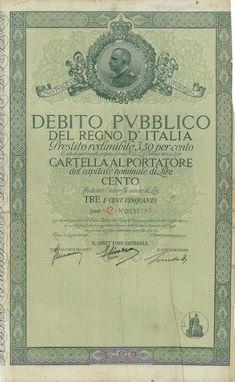 DEBITO PUBBL. DEL REGNO D' ITALIA - PRESTITO REDIM. 3,50% - CARTELLA AL PORT. - #scripomarket #scriposigns #scripofilia #scripophily #finanza #finance #collezionismo #collectibles #arte #art #scripoart #scripoarte #borsa #stock #azioni #bonds #obbligazioni