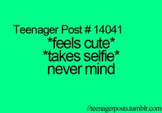 Reason why I don't post my selfie to the Instagram hahaha