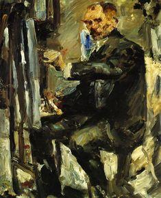 The Athenaeum - Self Portrait at the Easel, 1922 (Lovis Corinth - )