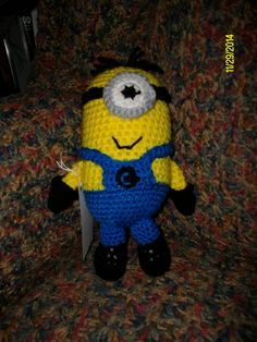 Minion With One Eye by CraftingAddiction on Etsy